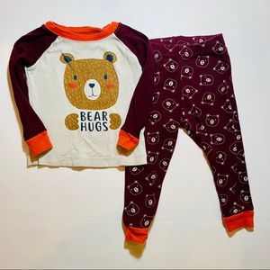 🇺🇸4/$25 Wonder Nation bear pj set